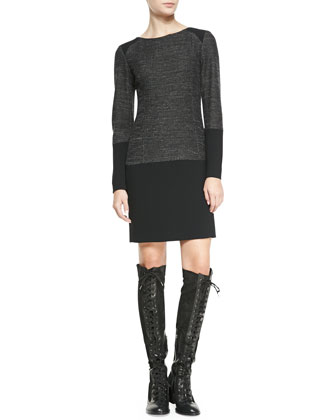 Howard Two-Tone Tweed Shift Dress