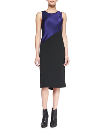 Gracie Satin/Crepe Sleeveless Dress