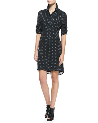 Prairie Printed Long-Sleeve Shirtdress