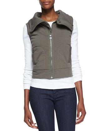 Bridger Jersey Zip-Front Vest, Olive