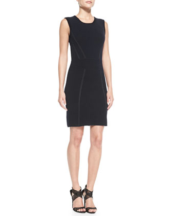 Sleeveless Body-Conscious Blend Dress