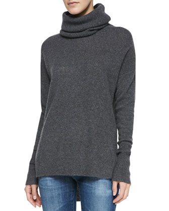 Ahiga Cashmere Funnel-Neck Sweater
