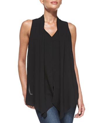 Sleeveless Scarf Top