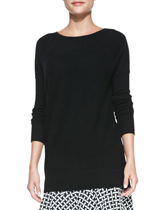 Long Cashmere Pullover Sweater