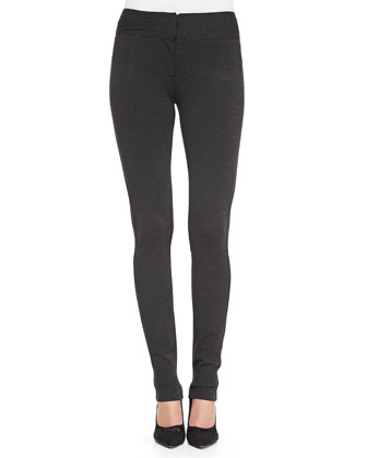 Structured Knit Stretch Leggings