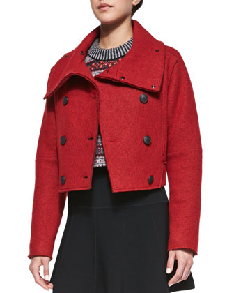 Harper Felt Cropped Coat