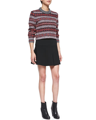 Isla Knit Pleated Skirt