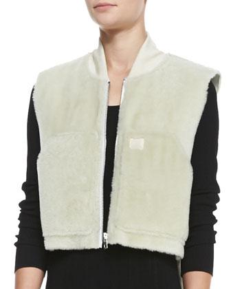 Shearling Fur Work Vest