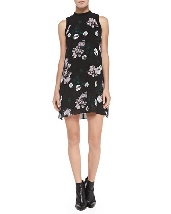 Drie Floral-Print Silk Dress