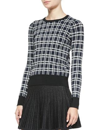 Diggs Long-Sleeve Plaid Sweater