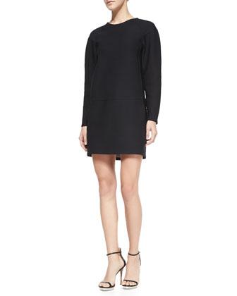 Colleen Long-Sleeve Scuba Dress
