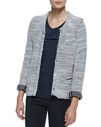 Carene Braid-Trim Knit Jacket