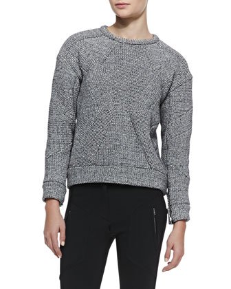 Parker Boxy Textured Knit Sweater