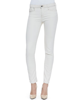 Liya Low-Rise Slim Jeans, White