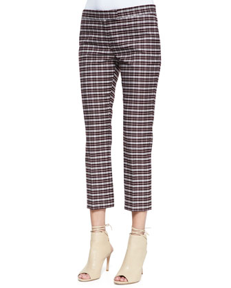 Queen Cropped Check Pants