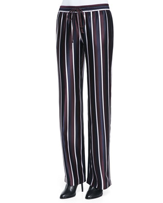 Collegiate-Stripe Pajama Pants