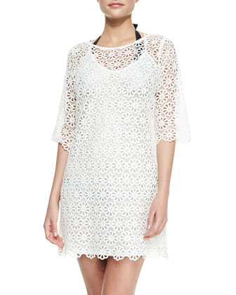 Katarina Daisy Lace Crochet Coverup Dress