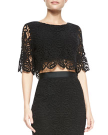 Lou Swirly-Lace Crop Top