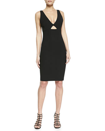 Yve Formfitting Sleeveless Cutout Dress
