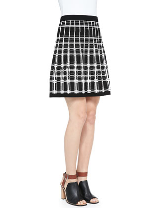 Series Plaid A-Line Skirt