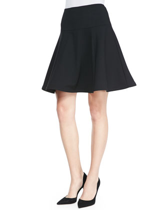 Author Jersey Flared Skirt