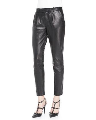 Lambskin Leather Trousers