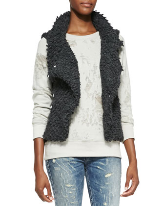 Catleen Looped-Knit Vest