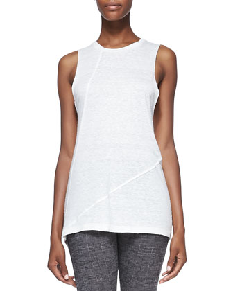 Vilma Knit Sheer-Sleeveless Sweater
