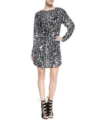Simona Leopard Print Dress