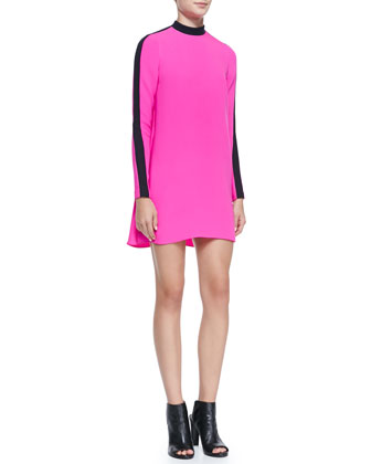 Isley Long-Sleeve Colorblock Dress