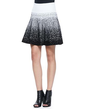 Mills Ombre Print Skirt