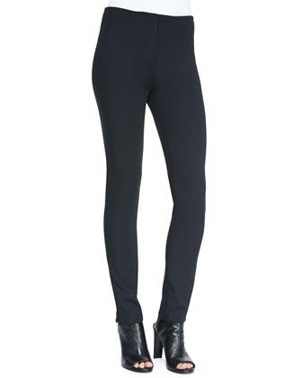 Thea Front-Zip Jersey Leggings