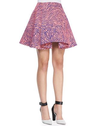 Fingerprint-Circle A-Line Skirt