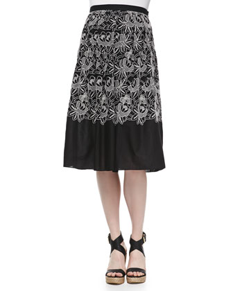Embroidered Eyelet Party Skirt