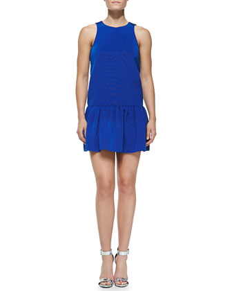 Katia Sleeveless Flirty Faille Dress