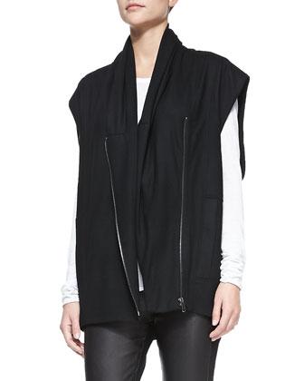 Sonar Wool Front-Zip Vest