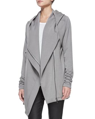 Villous Oversize Hooded Cardigan, Dim