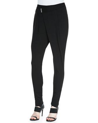 Villous Wrap-Front Sweatpants