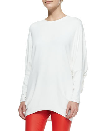 Villous Long-Sleeve Knit Top