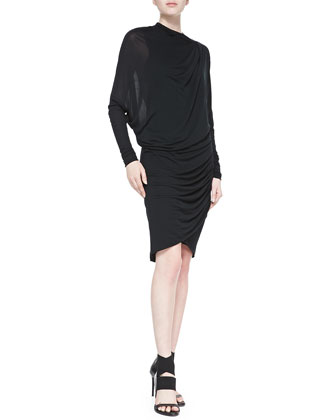 Twisted Jersey Long-Sleeve Dress