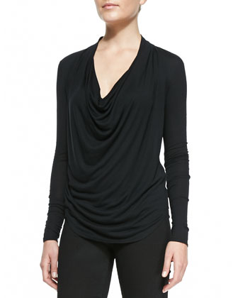 Draped Kinetic Jersey Top