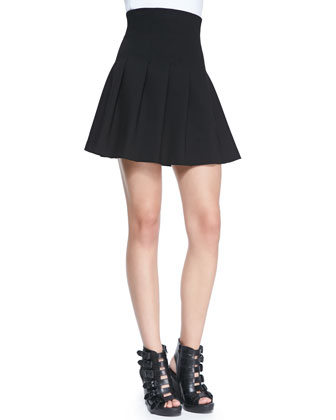 Jersey High-Waist Fit-&-Flared Skirt