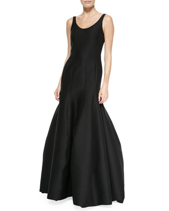 Tulip-Skirt Sleeveless Gown