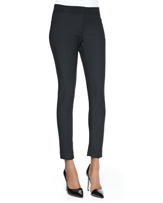 Seamed Scuba Leggings, Black