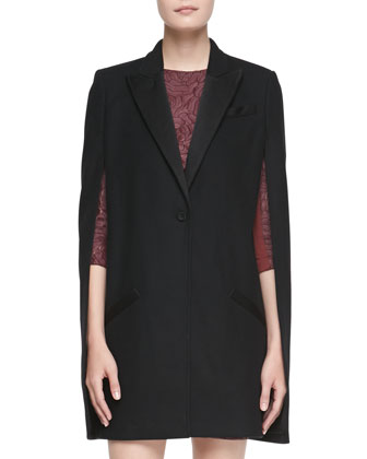 Coven Button-Front Trench Cape