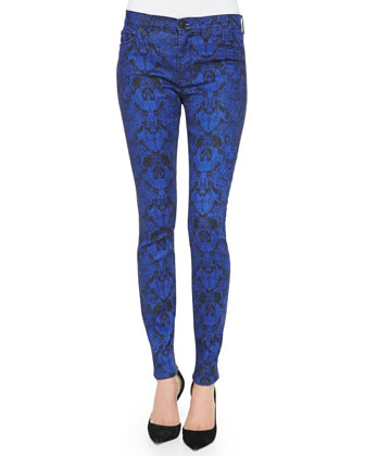Nico Python-Print Super Skinny Jeans, Constrictor