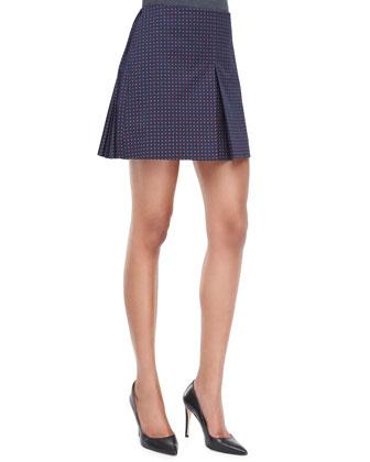 Klarissa Twill Pleated Skirt