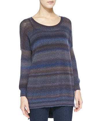 Cashmere Mesh Space-Dye Sweater