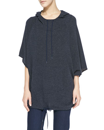 Hooded Cashmere Anorak Pullover