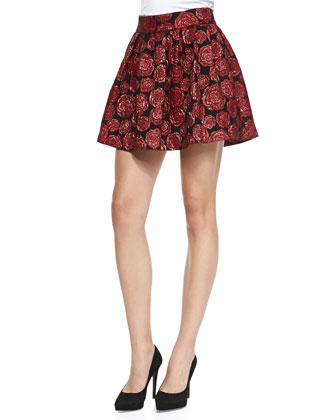 Fizer Shimmery Rose Jacquard Skirt